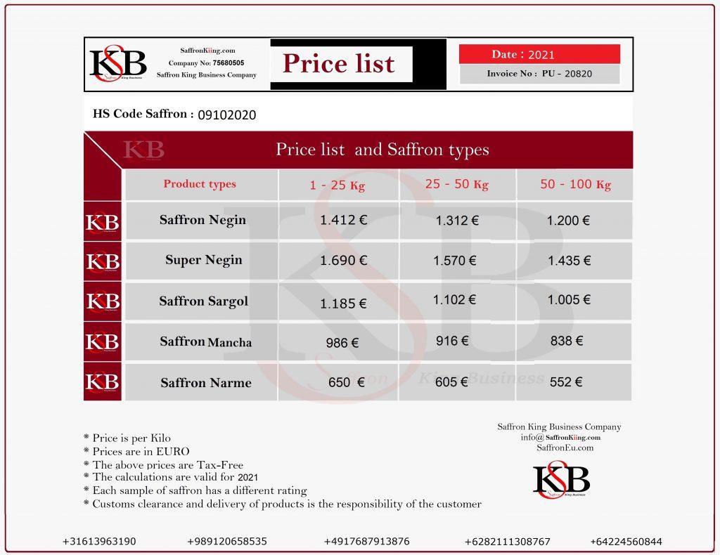 قیمت بهترین زعفران و صادرات زعفران